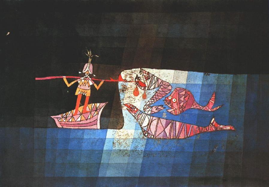 Battle-Scene-From-the-Comic-Fantastic-Opera-the-Seafarer-Paul-Klee-1923