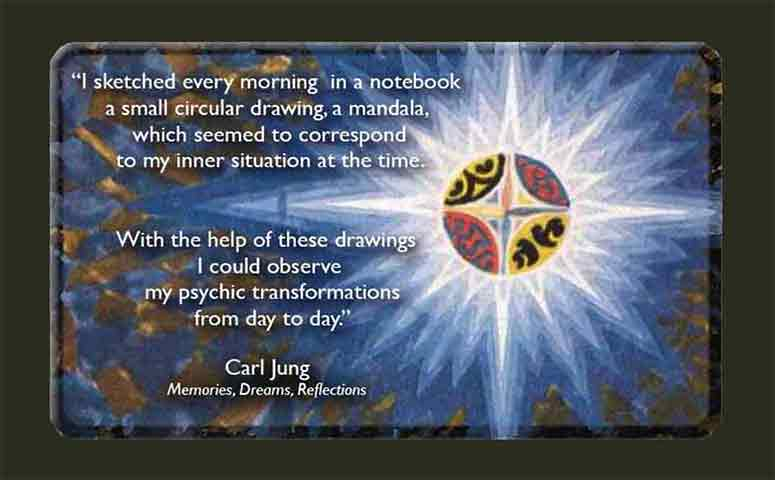Quoatation and mandala from Jung's notebook