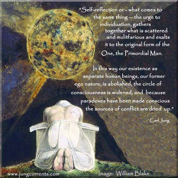 """carl jung """"the urge to individuation gathers together"""