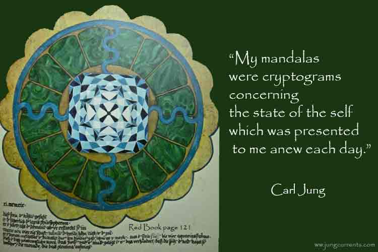 """cg jung """"the mandala is the path to the center to"""