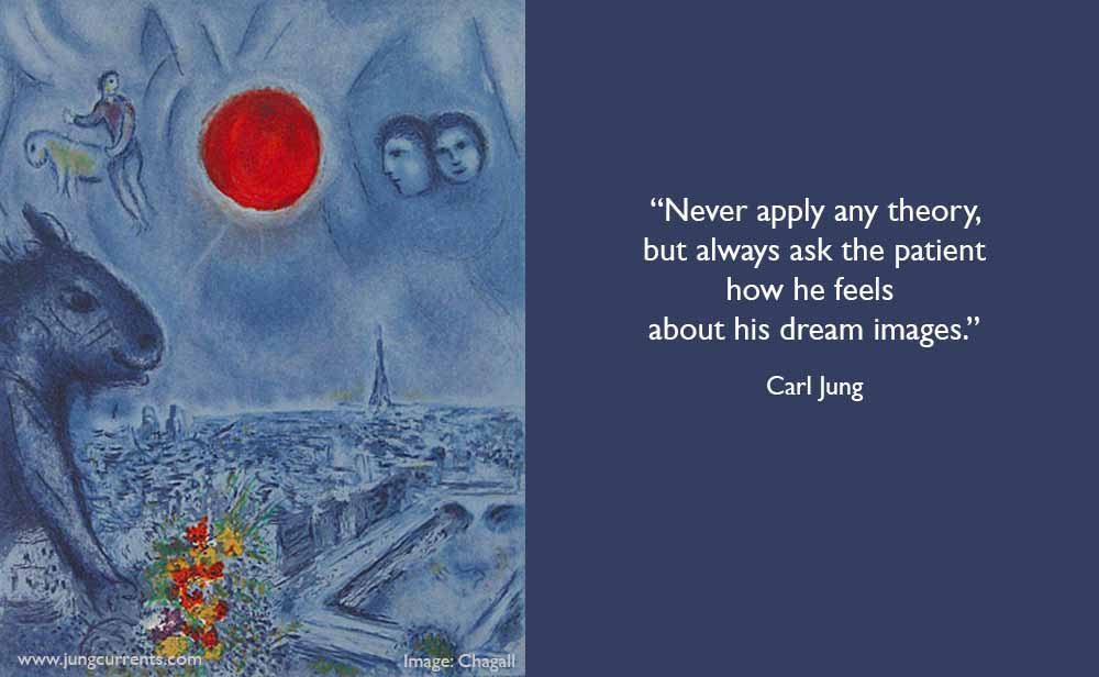 """cg jung """"never apply any theory but always ask a"""