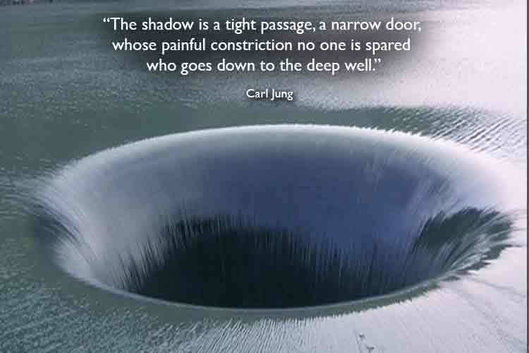 """carl jung """"the shadow is a tight passage a narrow door"""